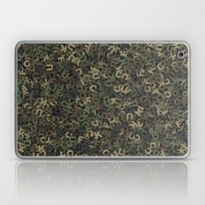 Four camouflage letters Laptop & iPad Skin