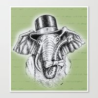 I'm too SASSY for my hat! Vintage Elephant. Canvas Print
