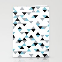 Triangles Ice Blue Stationery Cards
