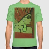 Fire Lady Mens Fitted Tee Grass SMALL