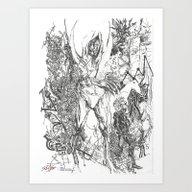 Abstract Dark Drawing Art Print