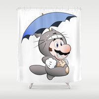 My Neighbor Mario Shower Curtain