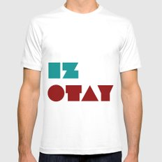 Iz Otay Mens Fitted Tee SMALL White