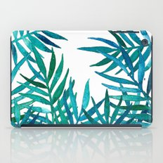 Watercolor Palm Leaves on White iPad Case