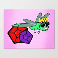 The Queen Bug  Canvas Print