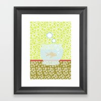 Fishy Os Framed Art Print