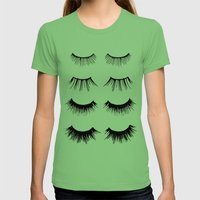 Beauty Lashes Womens Fitted Tee Grass SMALL