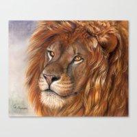 Lion- The King Canvas Print
