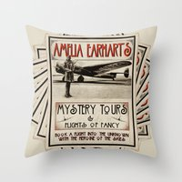 Mystery Tours & Flights of Fancy Throw Pillow