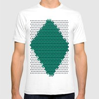 Knitting Mens Fitted Tee White SMALL