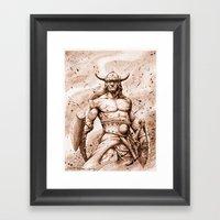 CONAN Robert E. Howard (… Framed Art Print