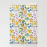 Cute Pokémon Doodle  Stationery Cards