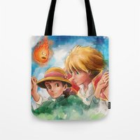 Sophie and Howl from Howl's Moving Castle Tra-Digital Painting Tote Bag