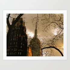 Empire State From Bryant Park Art Print