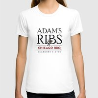 Adam's Ribs Womens Fitted Tee White SMALL