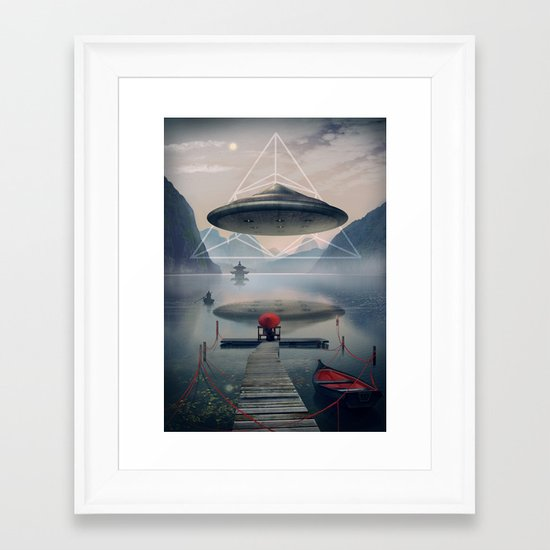 the calm Framed Art Print