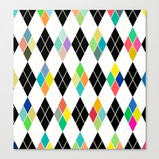 Colorful Geometric III Canvas Print