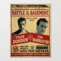 Fight Club Fight Poster Canvas Print