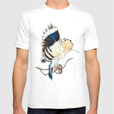 Hoopoe Mens Fitted Tee White SMALL