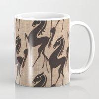 Burlap horses Mug