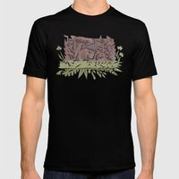Sleeping Mouse Mens Fitted Tee Black SMALL