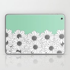 Daisy Boarder Mint Laptop & iPad Skin