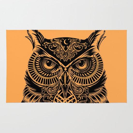 Warrior Owl 2 Area & Throw Rug