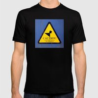 Caution Mens Fitted Tee Black SMALL