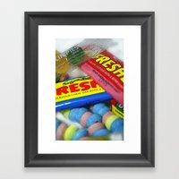 Retro Sweets. Framed Art Print