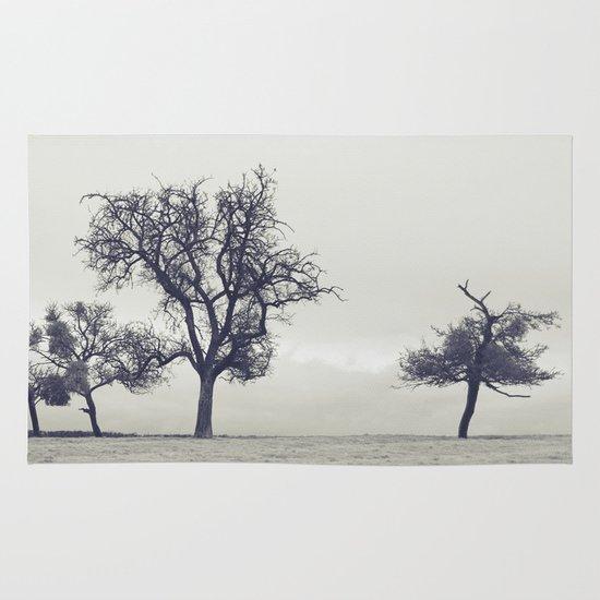 bleak trees... Area & Throw Rug