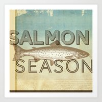 Salmon Season Art Print