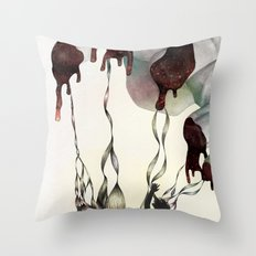 Rabbit in Your Headlights Throw Pillow