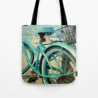 Beach Bike Tote Bag