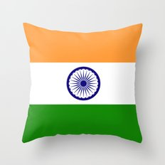 Flag of India - Authentic High Quality Image Throw Pillow