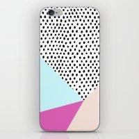 Polka Dot Rain Geometric iPhone & iPod Skin