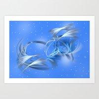 Snow Elves Art Print