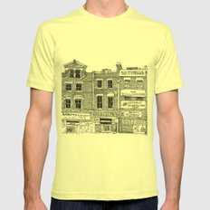 New Cross, London Mens Fitted Tee Lemon SMALL