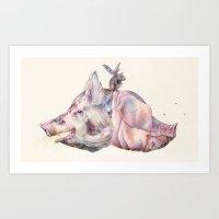 Oink, Oink Art Print