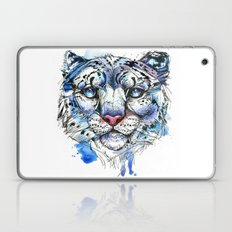 Icy Snow Leopard Laptop & iPad Skin