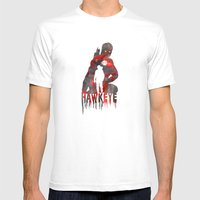 Hawkeye Print Mens Fitted Tee White SMALL
