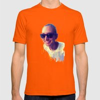 Fantasy Portrait Mens Fitted Tee Orange SMALL