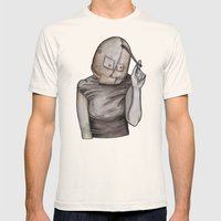 Coy conformity Mens Fitted Tee Natural SMALL