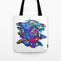 Fighting Fishes Betta Sp… Tote Bag