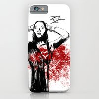 iPhone & iPod Case featuring Red Dress by Ron Jones The Artist