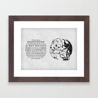 equals of opposites Framed Art Print
