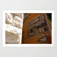 Undertakers and embalmers Art Print
