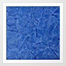 Vibrant Light Blue Plast… Art Print
