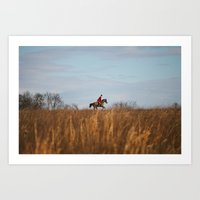 Fox Hunt Art Print