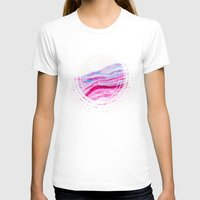 AGATE Inspired Watercolor Abstract 08 Womens Fitted Tee White SMALL