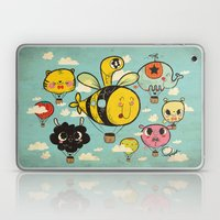 Happy Flight / The Animals Hot Air Balloon Voyagers / Patterns / Clouds Laptop & iPad Skin